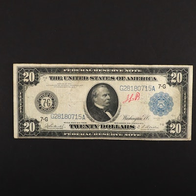 Large Format Series of 1914 $20 Federal Reserve Note