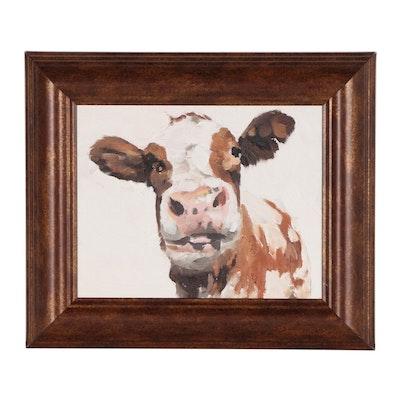 James Coates Oil Portrait of Cow