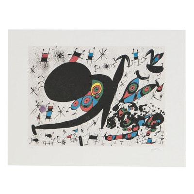 "Offset Lithograph after Joan Miró ""Homage to Joan Pratt"""