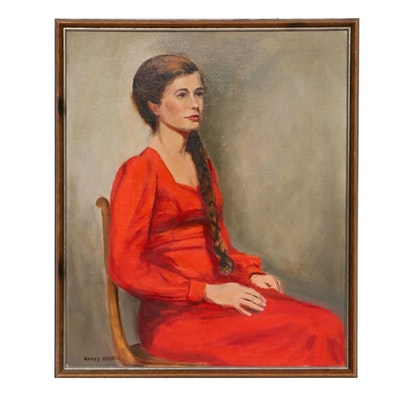 Nancy Heiskell Portrait of Woman Oil Painting