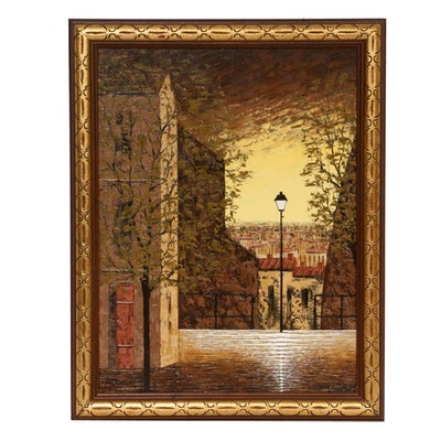 Boyadjieva Liuba Street Scene Oil Painting