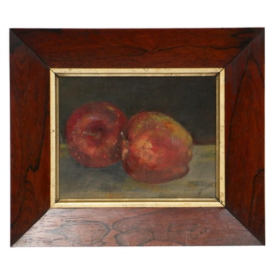 "American School Oil Painting ""Apples"", Early 20th Century"