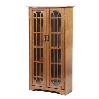 Accent Trend Sourcing Oak Glass Front Bookcase, Contemporary