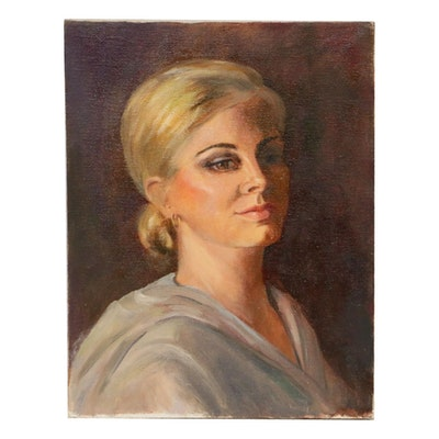 Nancy S. Heiskell Portrait of Woman Oil Painting