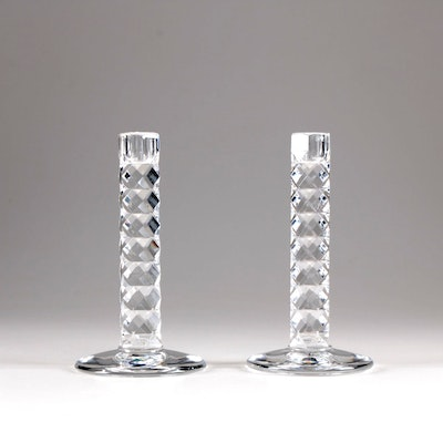Orrefors Crystal Candlesticks, Mid to Late 20th Century