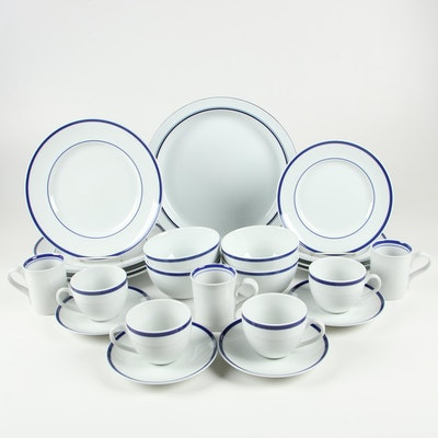 "Williams Sonoma ""Brasserie"" Porcelain Dinnerware with Dansk Porcelain Mugs"