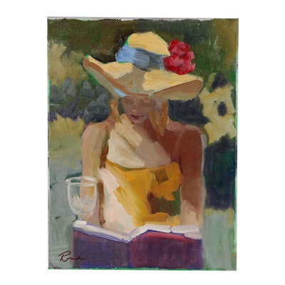 Sally Rosenbaum Figural Oil Painting