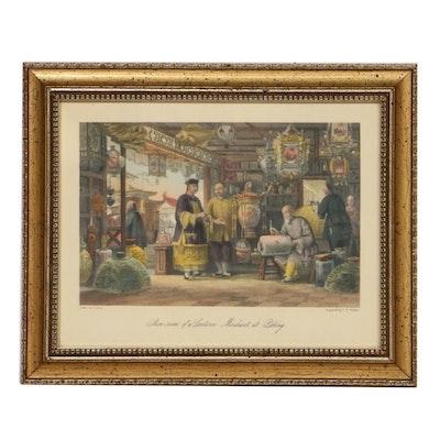 "F.F. Walker After T. Allom ""Show-room of a Lantern Merchant at Peking"""