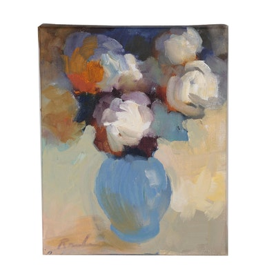 Sally Rosenbaum Floral Still Life Oil Painting