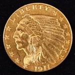 A 1911 Indian Head $2.50 Gold Quarter Eagle
