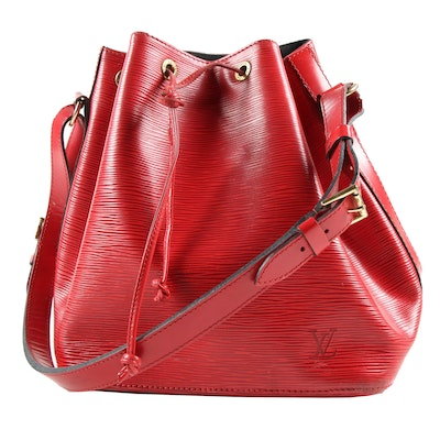 Louis Vuitton Petit Noé in Castilian Red Epi Leather