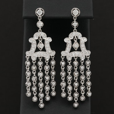 18K White Gold 2.78 CTW Diamond Chandelier Earrings