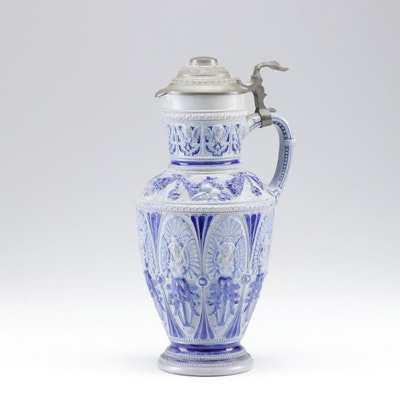 German Salt Glazed Stoneware Tankard