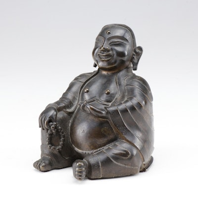 Japanese Bronze Buddha Figurine, 20th Century