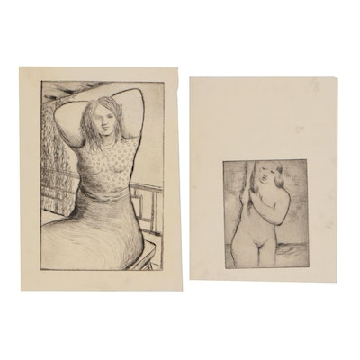 Thomas Brownell Eldred Figural Etchings