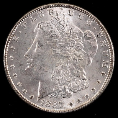 An 1887 Morgan Silver Dollar