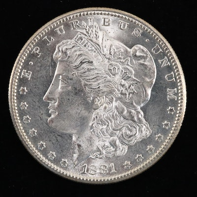 An 1881-S Morgan Silver Dollar