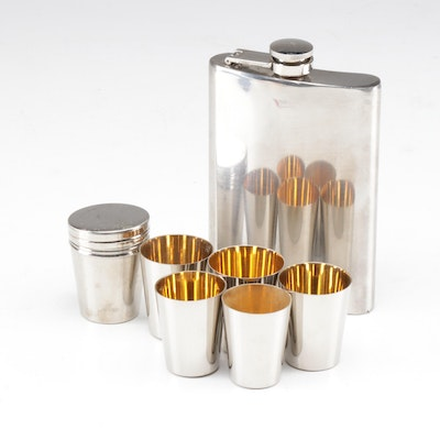 Stainless Steel Flask and Travel Shot Glass