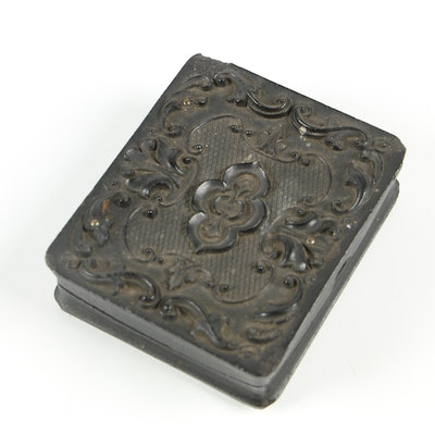 Scoville Manufacturing Co. Tintype in Gutta Percha Case