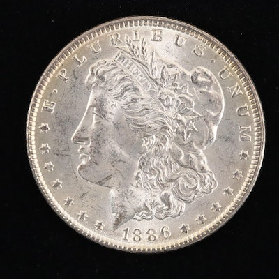 An 1886 Morgan Silver Dollar