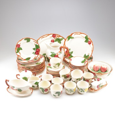 """Franciscan """"Apple Blossom"""" Earthenware Dinnerware, Mid to Late 20th Century"""