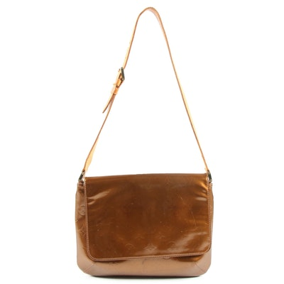Louis Vuitton Thompson Street Shoulder Bag in Bronze Vernis Leather