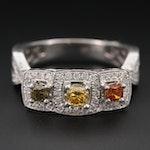 18K White Gold 1.11 CTW Diamond Ring