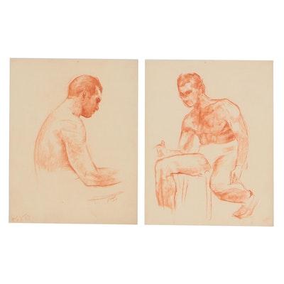 Robert Whitmore Conté Crayon Figure Studies