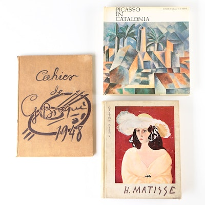 "Art Books Including ""Picasso in Catalonia"" by Josep Palau i Fabre, 1968"