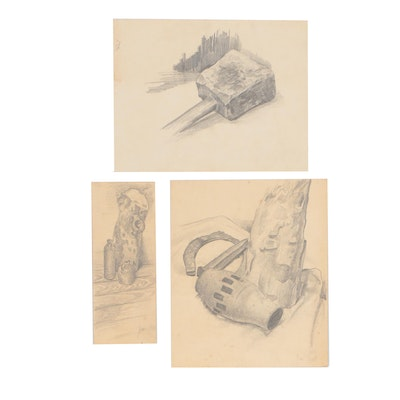 Robert H. Whitmore Graphite Drawing Studies, 1953