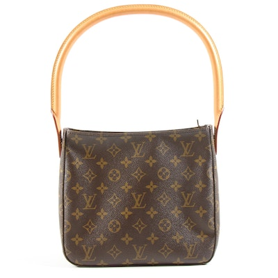 Louis Vuitton Looping MM Shoulder Bag in Monogram Canvas and Vachetta Leather