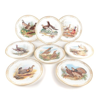 """Boehm Limited Edition """"Game Birds of North America"""" Bone China Collector Plates"""