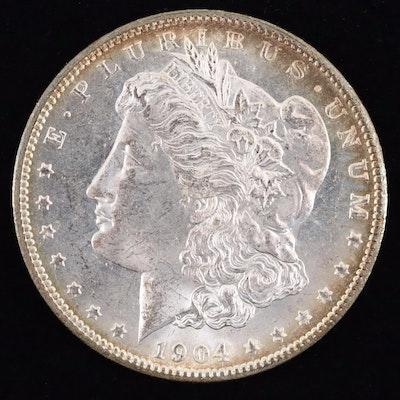 A 1904-O Morgan Silver Dollar