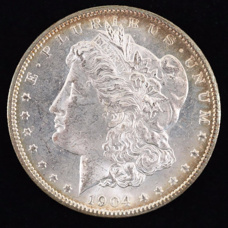 A 1904-O Morgan Silver Dollar