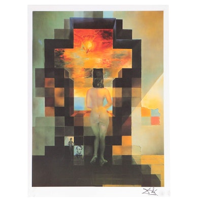 """Offset Lithograph after Salvador Dalí """"Lincoln in Dalivision"""""""
