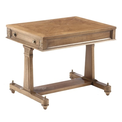 Louis XVI Style Bleached Pecan End Table, Mid-20th Century