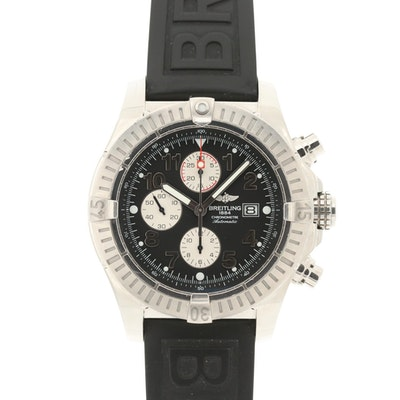 Breitling Super Avenger Stainless Steel Automatic Chronograph Wristwatch