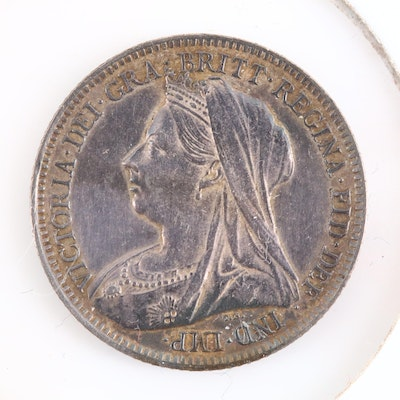 An 1899 Great Britain Silver Sixpence