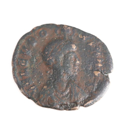 Ancient Roman Imperial AE3 Coin of Eudoxia, ca. 401 A.D.