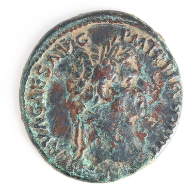 Ancient Roman Imperial AE As Coin of Nerva, ca. 97 A.D.