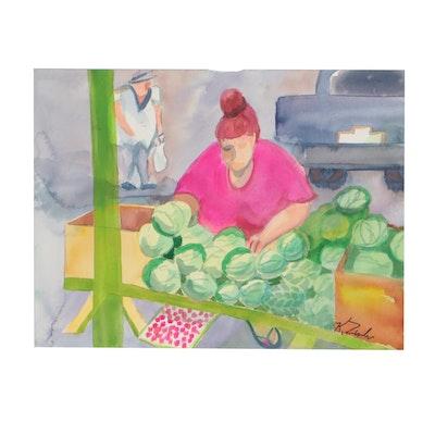 Kathleen Zimbicki Figural Watercolor Painting