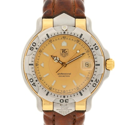 TAG Heuer 18K Gold and Stainless Steel Quartz Wristwatch