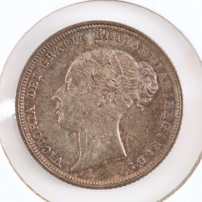 An 1886 Great Britain Silver Sixpence