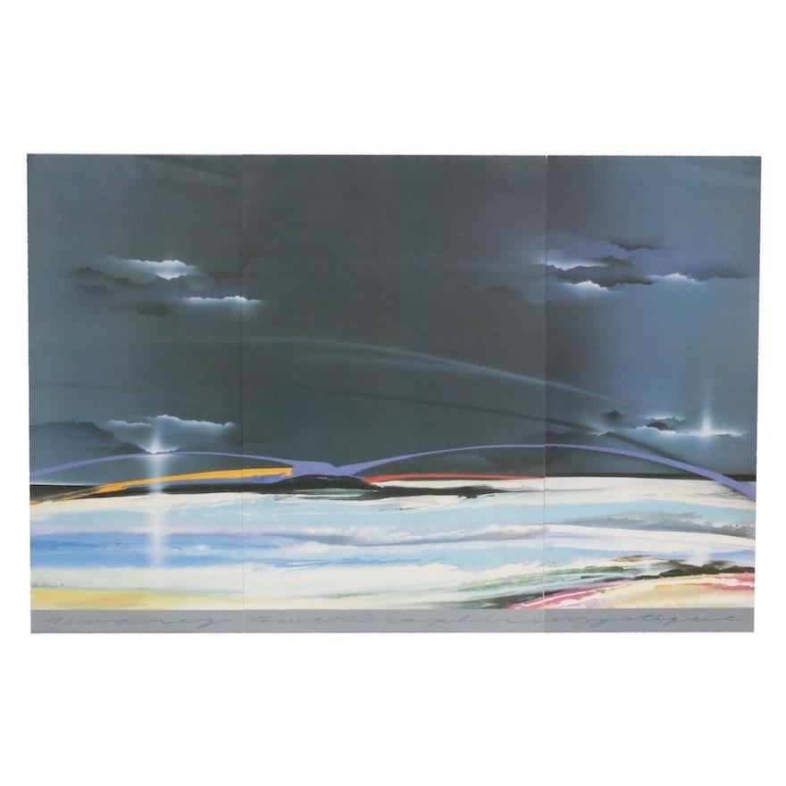 Offset Lithographic Triptych after Elba Alvarez, 1986