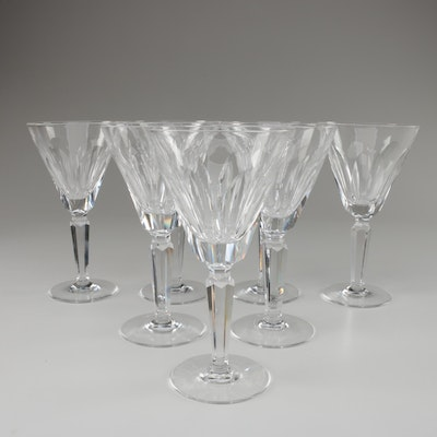 """Waterford Crystal """"Sheila"""" Claret Wine Glasses, Late 20th Century"""