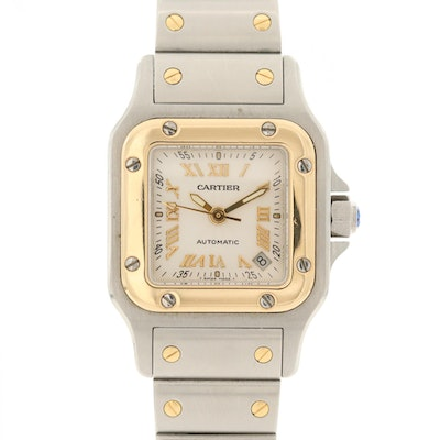 Cartier Sands Galbee 18K Yellow Gold and Stainless Steel Automatic Wristwatch