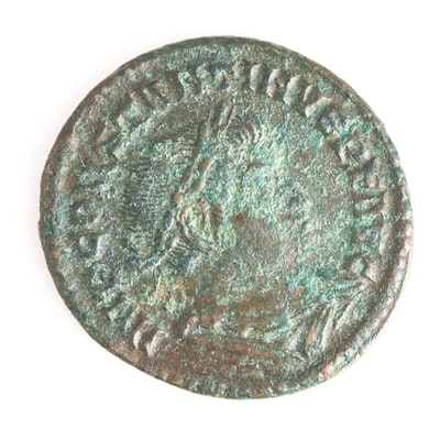 Ancient Roman Imperial AE Follis Coin of Constantine I, ca. 309 A.D.