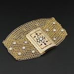 Christian Tse 18K Yellow Gold Chain Mail and 2.08 CTW Diamond Bracelet
