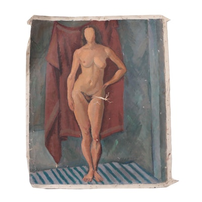 Edgar Yaeger Female Nude Oil Painting