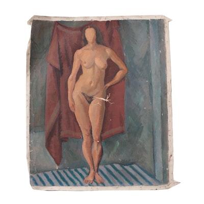 Edgar Yaeger Female Nude Oil Painting